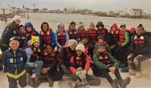 CHDS 7th Graders study ecosystems on Port Isobel Island