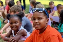 Capitol Hill Day School Buddy Groups at first all school assembly